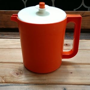 Vintage orange Tupperware pitcher
